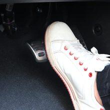 JY для Kia Ниро 2017-2018 акселератора педали тормоза противоскользящие комилект SUS304 Нержавеющаясталь автомобиль для укладки аксессуары