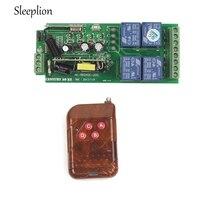 Sleeplion AC85v ~ 250 V 110 V 220 V 230 V 4CH Không Dây Tắc Điều Khiển Từ Xa 220 V Ngõ Ra Relay đài RF Transmitter + Receiver