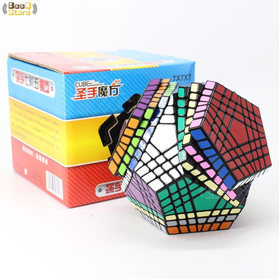 Shengshou Wumofang 7x7x7 Cube magique Teraminx 7x7 professionnel Dodecahedron Cube Twist Puzzle jouets éducatifs - 6
