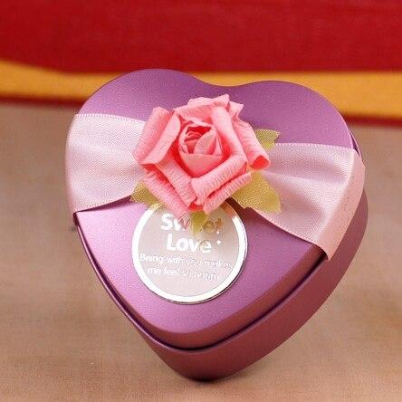 7*7*4cm Romantic Purple/Red Heart Candy Box Cute Chocolate ...