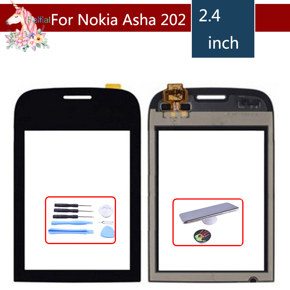 """2.4"""" For Nokia Asha 202 203 2020 N202 LCD Touch Screen Digitizer Sensor Outer Glass Lens Panel Replacement"""