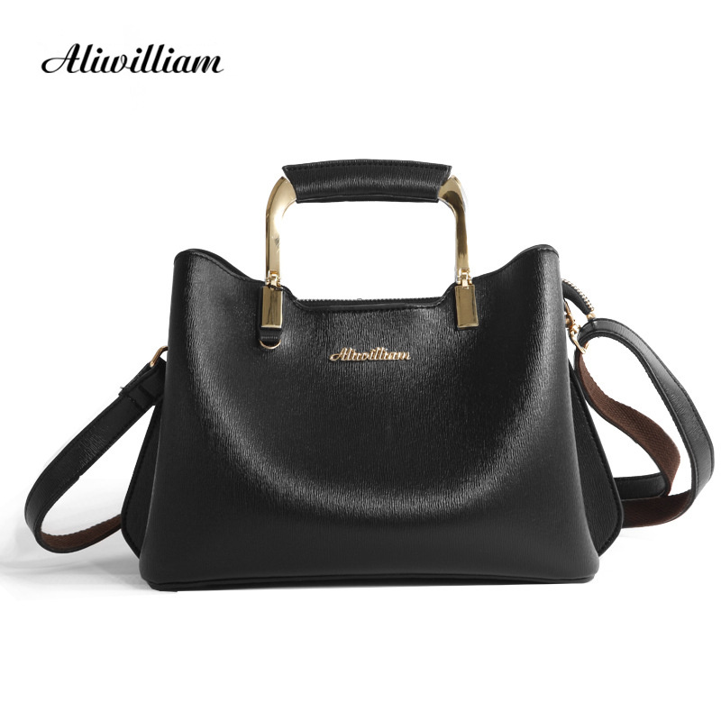 2017 New Women Fashion Leather Handbag Luxury Brand PU Leather Shoulder Bag women's Casual Tote Bags Vintage crossbody Bags