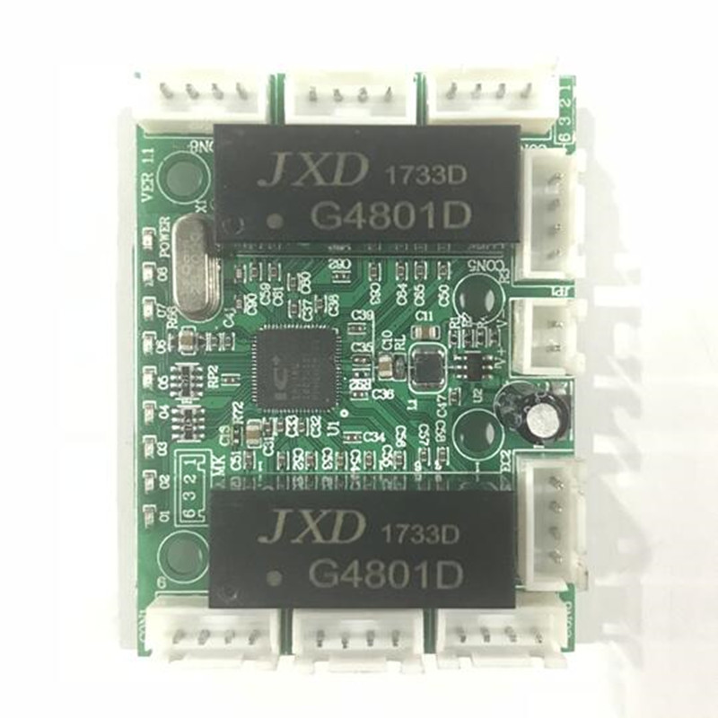 8 línea pin mini diseño ethernet interruptor de circuito para ethernet 10/100 mbps 8 port PCBA llevó Módulo de interruptor
