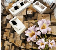 Home Decoration 3d Wallpaper Stereoscopic 3D Floor Flower Stakes Pvc Floor Wallpaper Floor 3d Wallpaper