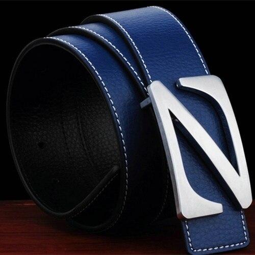 ad3593346eb75 Man Belt 2016 New Fashion Designer Belts Men High Quality Luxury Brand Genuine  Leather Belts For Men Famous Letter Jeans Belt-in Belts & Cummerbunds from  ...
