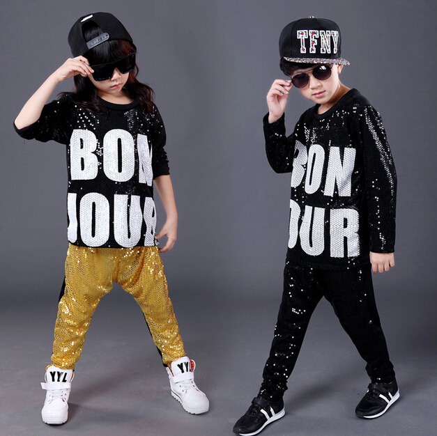 2018 Children Hip Hop Clothing Autumn Round Collar Camouflage Cool Sports Suits fashion kids Set For Boy Gilrs Hip Hop Clothing