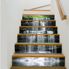 Waterfall 3D Stair Sticker DIY Wall Decal Mural Wallpaper Removable Decals Bathroom Wall Painting for Living Room Home Decor