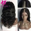 Nuevo Grado 8A pelo virginal brasileño u parte peluca ondulada del frente del cordón peluca de la onda del cuerpo del pelo humano u parte pelucas de pelo humano para negro mujeres