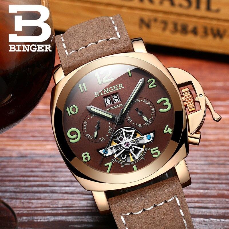 Ελβετικό πολυτελές ρολόι ανδρών BINGER - Ανδρικά ρολόγια - Φωτογραφία 2