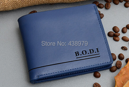 2014 Short design Genuine Leather Men's Wallets free shipping