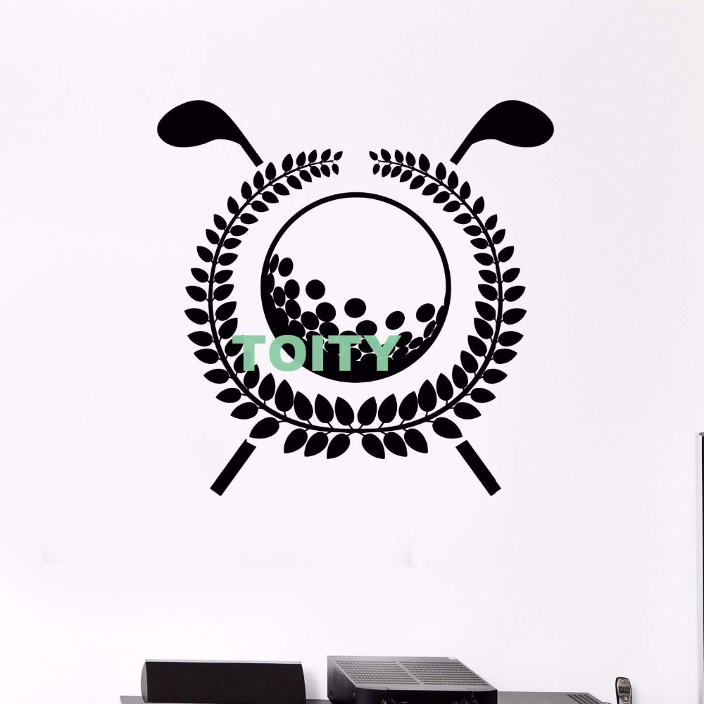 Vinyl Wall Decal Golf Club Player Sports Hobby Sticker Decor Home Room Interior Art Mural Graphics Decor H57cm x W57cm