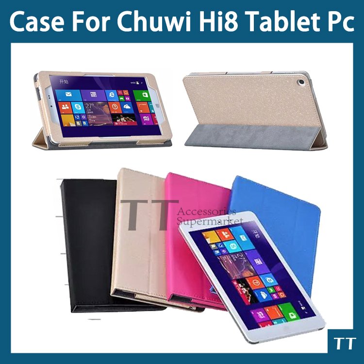 Case for CHUWI Hi8 HI8 pro Tablet PC Folding stand cover pu leather case for vi8+ vi8 plus + free Screen protector+touch pen