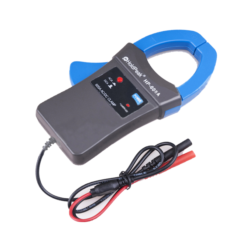 Holdpeak HP-605A Digital Clamp Adapter 600A AC/DC Current Power LED 45mm Jaw Ampermetr caliber Clamp Multimeter for HP-770HC zipabox power current clamp 35a