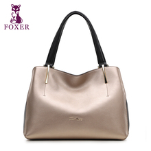 Genuine Leather handbag  Foxer  Handbag fashion wild Shoulder Messenger Bag Tote