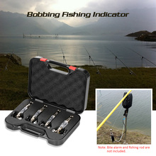 4Pcs LED Illuminated Swinger Stainless Steel Fishing Sinker in Case Carp Fishing Swinger Set Fishing Tackle for Bite Alarm