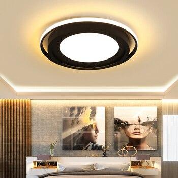 Chandelierrec Modernas Luces De Techo Led Para Sala De Estar Dormitorio AC85 265V Accesorios De Iluminación Para El Hogar Lámpara De Techo En Techos Bajos