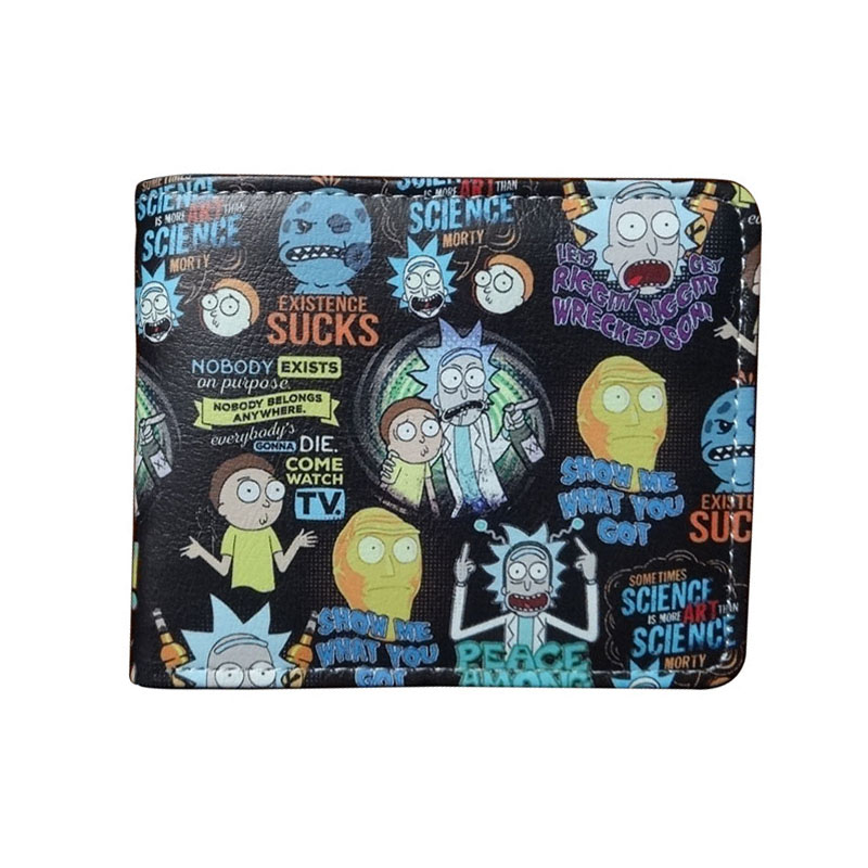 Cute Cartoon Rick And Morty Wallets Anime Card Holder Bags For Men Women Boy Girl Purse Leather Short Wallet Carteira