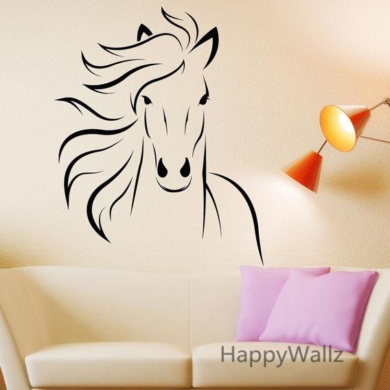 Aliexpress.com : Buy Horse Wall Stickers Modern Horse Wall ...