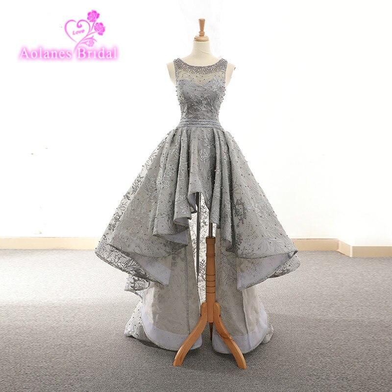 2018 New European And American Sleeveless Elegant Slim Front Short Back Long Three-tier Vest Dress Gray Chirstmas Women Dress