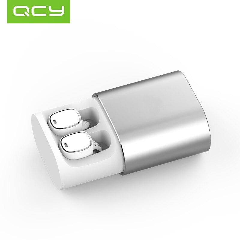 2018 QCY T1 PRO Bluetooth TWS Écouteurs Micro Intégré Casques Sans Fil Contrôle Tactile Sport Écouteurs avec 750 mah Étui De Charge