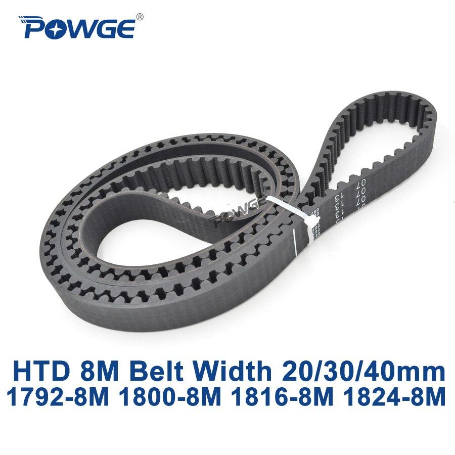 POWGE HTD 8M synchronous Timing belt C 1792 1800 1816 1824 width 20 30 40mm Teeth