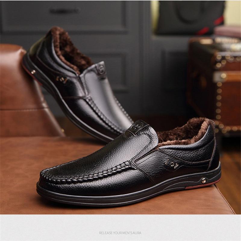 Marca Moda Confortável Dos Homens marrom Couro Sapatos Men Genuíno Elegantes Preto Social Primavera De Ms8116116 B880q