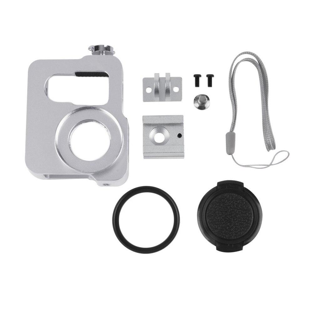 2016 Новый Алюминиевый Сплав Камера Защитная Рамка Случае Корпус Металлический Корпус крышка с Крышка Объектива Ремешок Для GoPro Hero 4 Черный Щепка