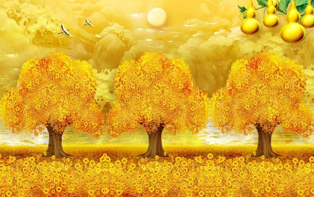 ภาพพิมพ์3Dผ้าม่านหยกภูมิทัศน์เชียร์ผ้าม่านสำหรับเด็กห้องนอนห้องเด็กผ้าม่านสีเหลืองม่านม่าน