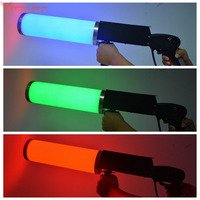 LED Co2 Gun DJ Stage co2 Jet Machine Colorful Co2 Fog Spray Cannon Blower Machine Disco Party Effect Equipment RGB Handhold Jet