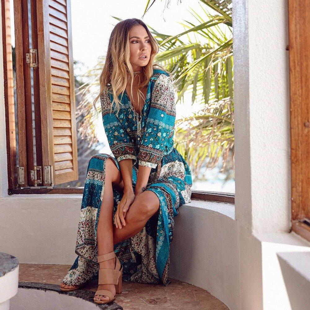 Women Long Maxi Dresses Bohemia Dress