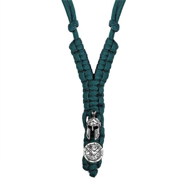 Фото женское ожерелье из нейлона темно синее колье для выживания