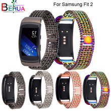 цена на High Quality watch band Aluminium Alloy Steel Bracelet Band For Samsung Fit2 SM-R360 Smart Watch Strap For Gear Fit 2 Watchbands