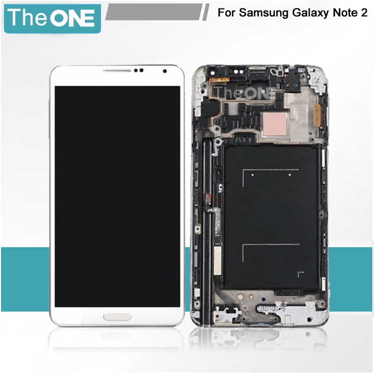 Replacement LCD display Touch Screen Digitizer with Frame Assembly Repair Part for SamSung N7100 Galaxy Note2 White new white lcd display touch screen digitizer replacement repair frame assembly for apple iphone 5s smart phone