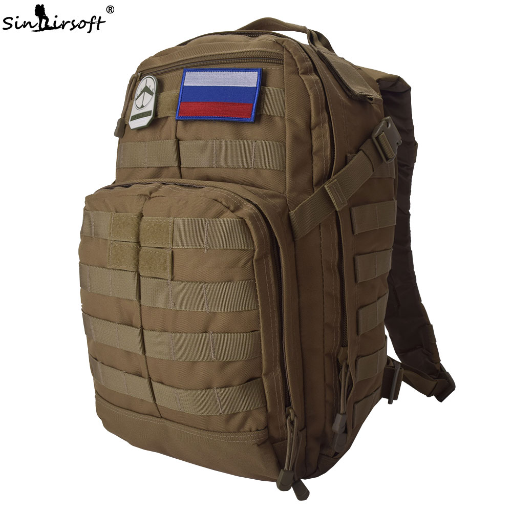 SINAIRSOFT 30L Tactical Backpack 14 Inches Laptop 1000D Oxford Fabric Molle Rucksack Outdoor Sport Camping Hiking Fishing Bags