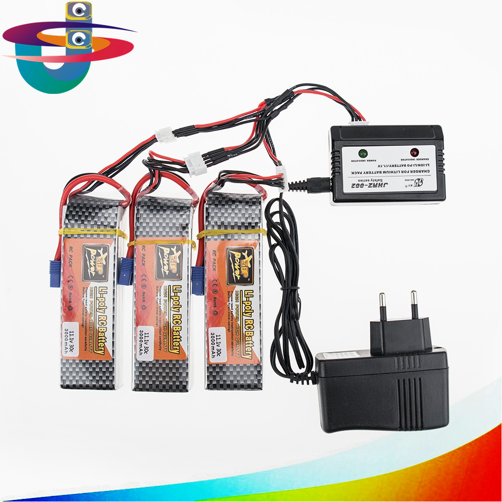 lipo 3s battery 1/2/3 pcs with charger set 3s 11.1V 3000mAh 35C RC LiPo batteria for FPV helicopters Quadcopter rc car airplane 3 6v 2400mah rechargeable battery pack for psp 3000 2000