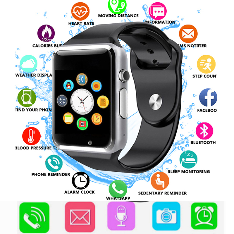 2018 child Bluetooth Smart Watch With Camera Facebook Whatsapp Twitter Sync SMS Smartwatch Support SIM TF Card For IOS Android-in Digital Watches ...