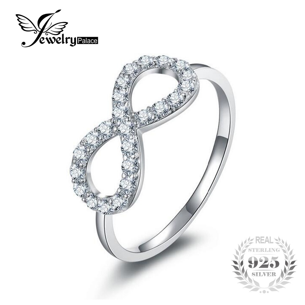 Jewelrypalace infinity engagement ring solid 925 sterling for Infinity ring jewelry store