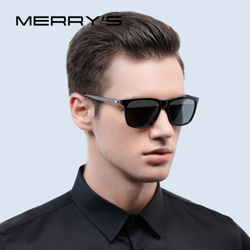 MERRY'S Fashion Unisex Retro Aluminium Solglasögon Män Polarized Lens Brand Designer Vintage Sun Glasses For Women UV400 S'8286