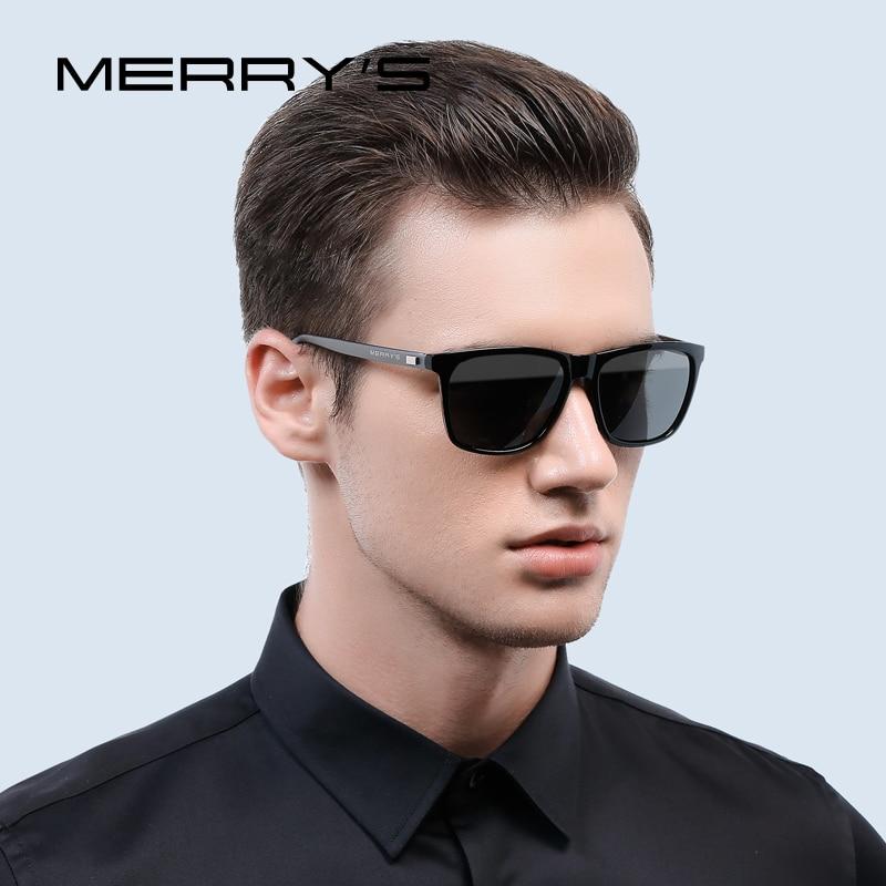 MERRY'S Fashion Unisex Retro Aluminum Sunglasses Men Polarized Lens Brand Designer Vintage Sun Glasses For Women UV400 S'8286