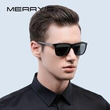 MERRYS moda Unisex Retro okulary przeciwsłoneczne aluminiowe męskie soczewki polaryzacyjne marka projektant Vintage okulary przeciwsłoneczne dla kobiet UV400 S8286