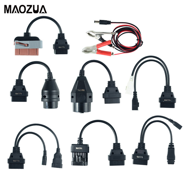High quality Full set 8PCS Adapter Cars Cables Diagnostic Interface Cable For TCS CDP Pro multidiag pro MV diag WOW Cars