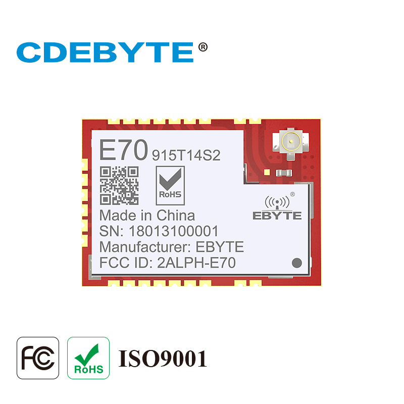 E70-915T14S2 brazo pequeño tamaño CC1310 915mhz 25mW IPX Stamp antena con orificios IoT uhf transmisor inalámbrico módulo receptor