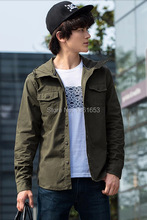 Retro Japanese style denim jacket mens single breasted fashion casual cotton jacket blue/green/back hoodies jacket canvas look