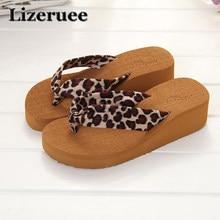 ab43c90f1 Summer Woman Shoes Platform bath slippers Wedge Beach Flip Flops High Heel  Slippers For Women EVA