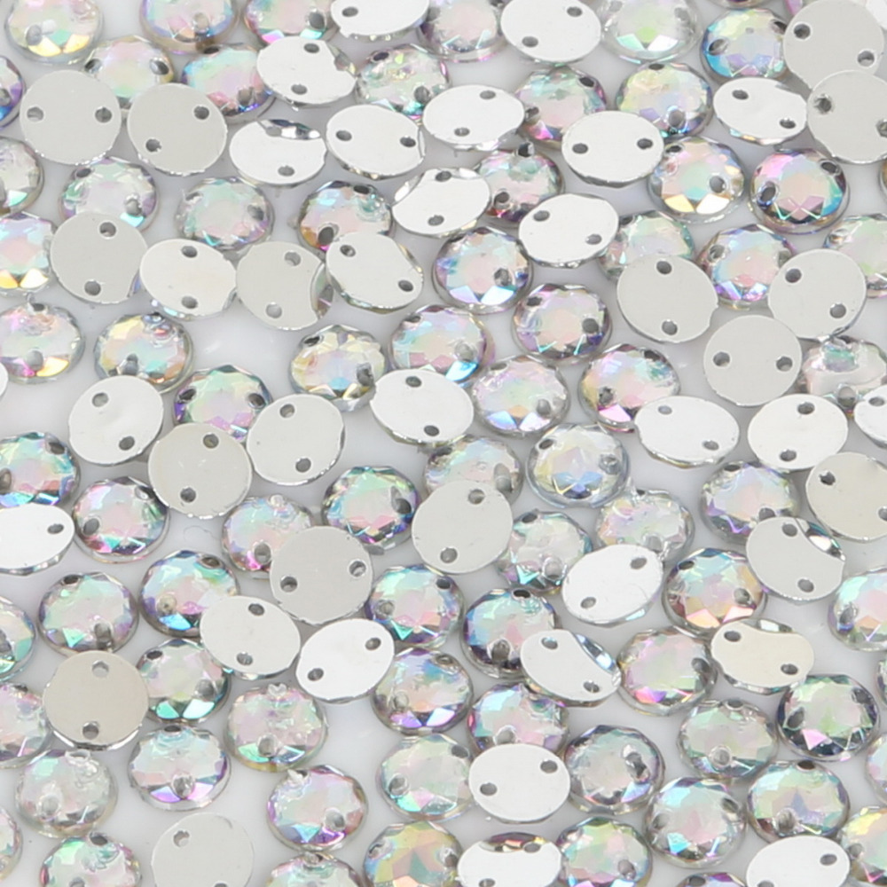 46mm Clear White AB Color Big Flowers Rhinestones Appliques Flatback Acrylic DIY