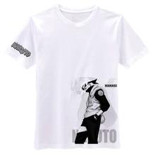 Cosplay Naruto Konoha Hokage Kakashi Costume Unisex Casual Cotton Short-Sleeved T-Shirt Tops Tee Shirt Summer Wear