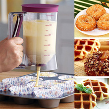 DIY Cupcake Pancake Cake Cream Mix Dispenser Funnel Measuring cup Bakeware Kitchen Mould Accessory Tool 900 ml Muffins Dispenser