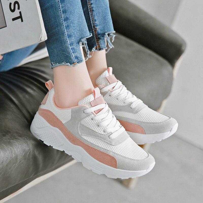 Women casual shoes 2018 new fashion wild platform sneakers women shoes tenis feminino mesh breathable sneakers female shoes цена
