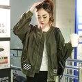 Бесплатная Доставка Женщины светоотражающие повседневная slim fit хип-хоп куртки бомбардировщика высокое качество 3 Цвета женщина Весна бейсбол куртка