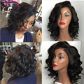 Best Short Human Hair Bob Wigs Virgin Brazilian Wavy Full Lace Human Hair Wig With Baby Hair Body Wave Lace Front Wigs Bob